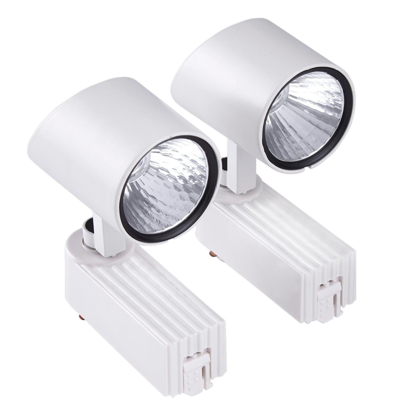 2 Faretti Spot LED COB 7W per Binario