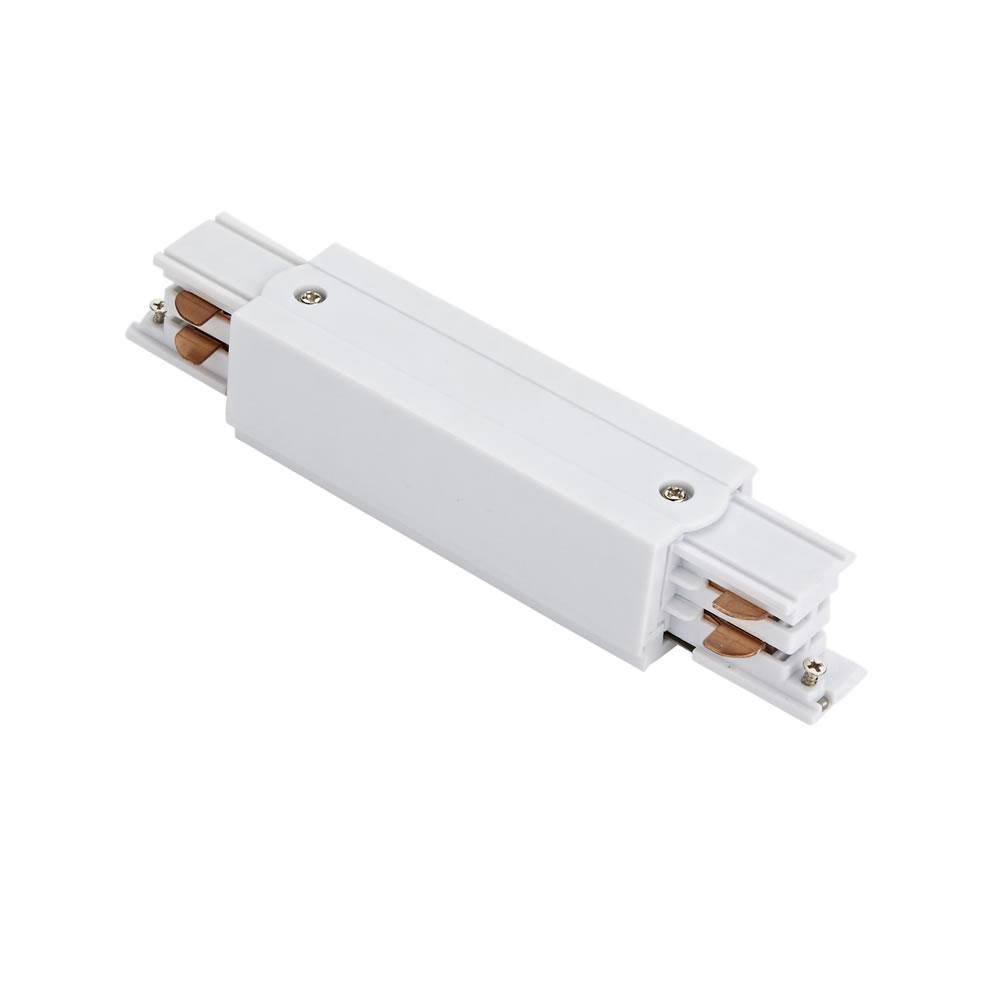 Connettore Per Binario da Incasso con Sistema Trifase -  Bianco