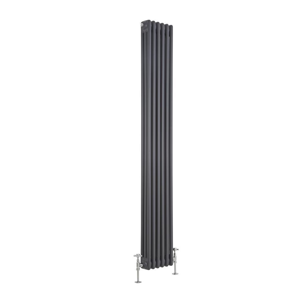 Radiatore di Design Verticale a 3 Colonne Tradizionale - Antracite - 1800mm x 293mm x 100mm - 1169 Watt - Regent