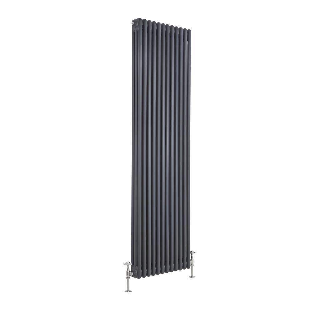 Radiatore di Design Verticale a 3 Colonne Tradizionale - Antracite - 1800mm x 563mm x 100mm - 2338 Watt - Regent