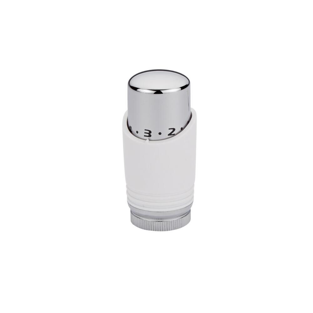 Valvola Termostatica Bianca e Cromata per Radiatori e Scaldasalviette per Tubi in Rame 15mm
