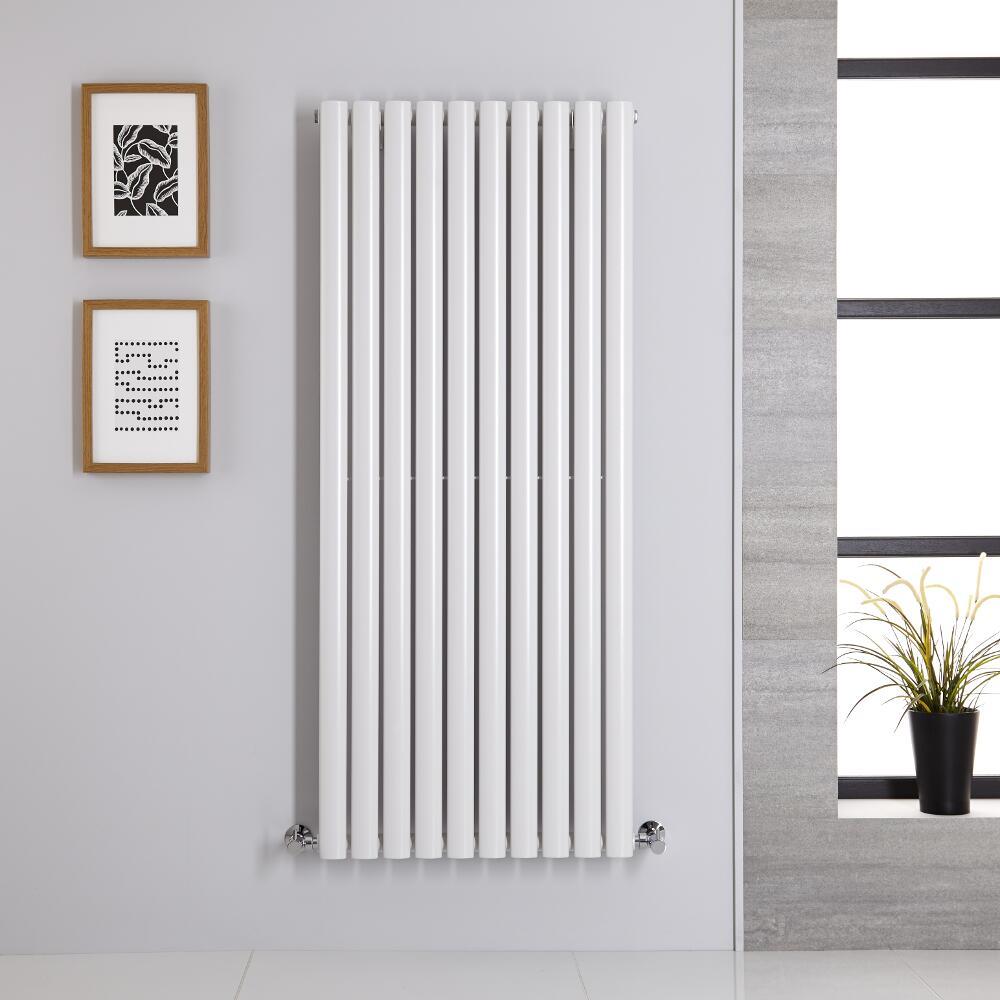 Radiatore di Design Verticale - Bianco - 1400mm x 590mm x 56mm - 1143 Watt - Revive