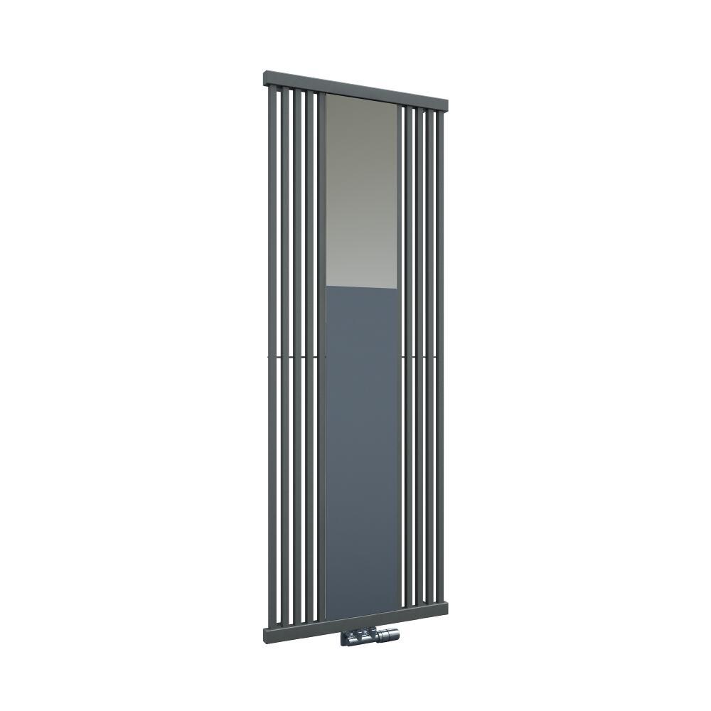 Radiatore di Design Verticale con Attacco Centrale - Con Specchio - Effetto Pietra - 1700mm x 640mm x 60mm - 1300 Watt - Lublin