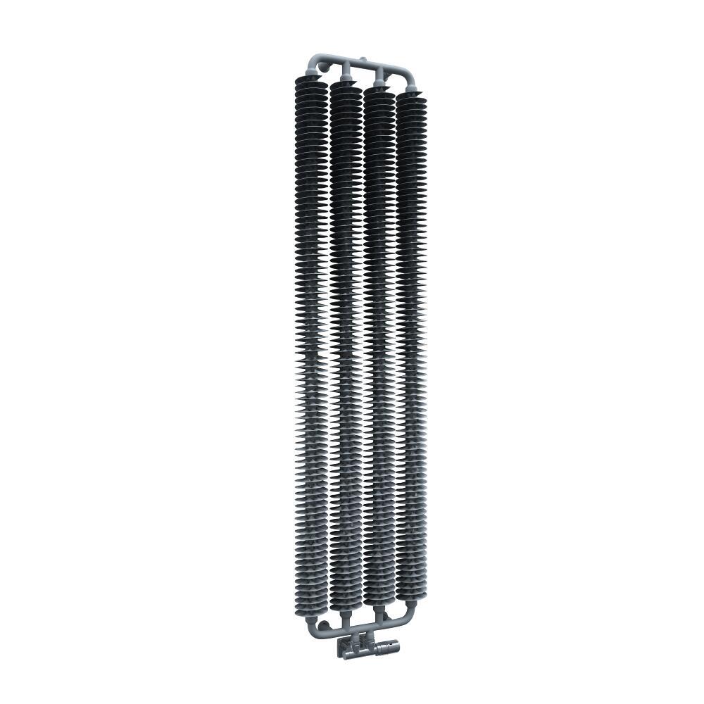 Radiatore di Design Verticale con Attacco Centrale - Argento Opaco - 1720mm x 390mm x 90mm - 1105 Watt - Tatra