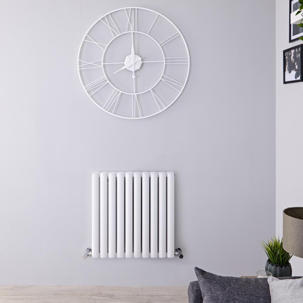 Radiatore di Design Doppio - Orizzontale - Alluminio - Antracite - 600mm x 590mm - 907 Watt - Revive Air