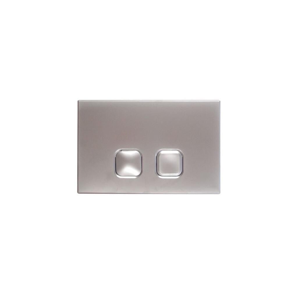 Placca di Comando WC Cromata per Cassetta a Incasso 150x230mm - Cluo