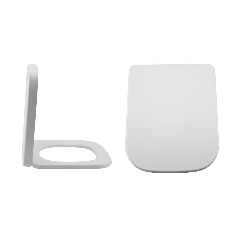Sedile WC con Chiusura Soft Close con Sgancio Rapido e Fissaggio Superiore - Milton