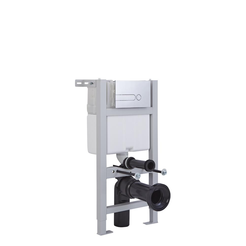 Kit WC con Telaio per Cassetta 820x400mm per Sanitari Sospesi ad Incasso