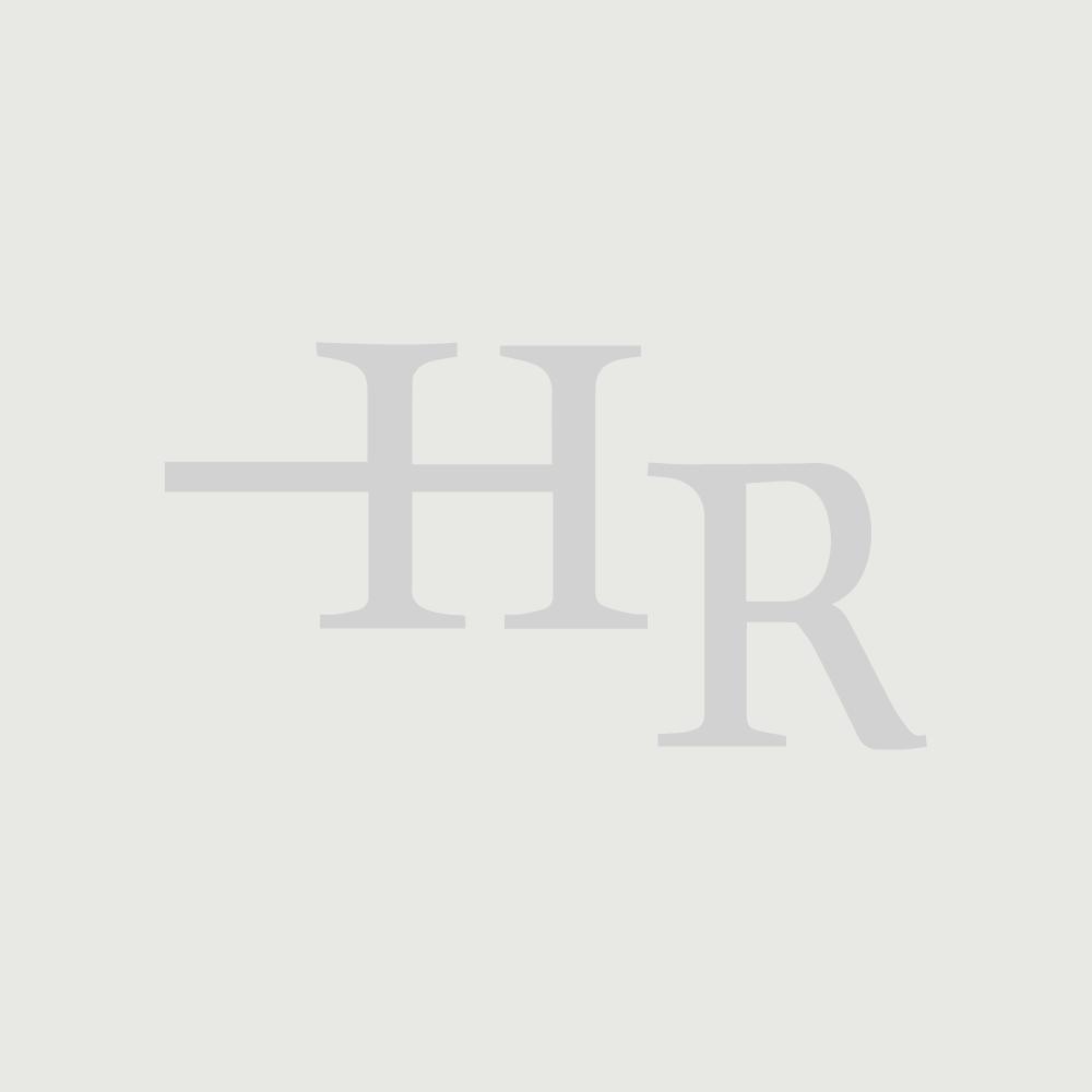 Mobile Base Sottolavabo Sospeso Colore Bianco Opaco con Design Ortogonale 1600mm con Top di Colore Bianco e Lavabo da Appoggio con Opzione LED - Newington