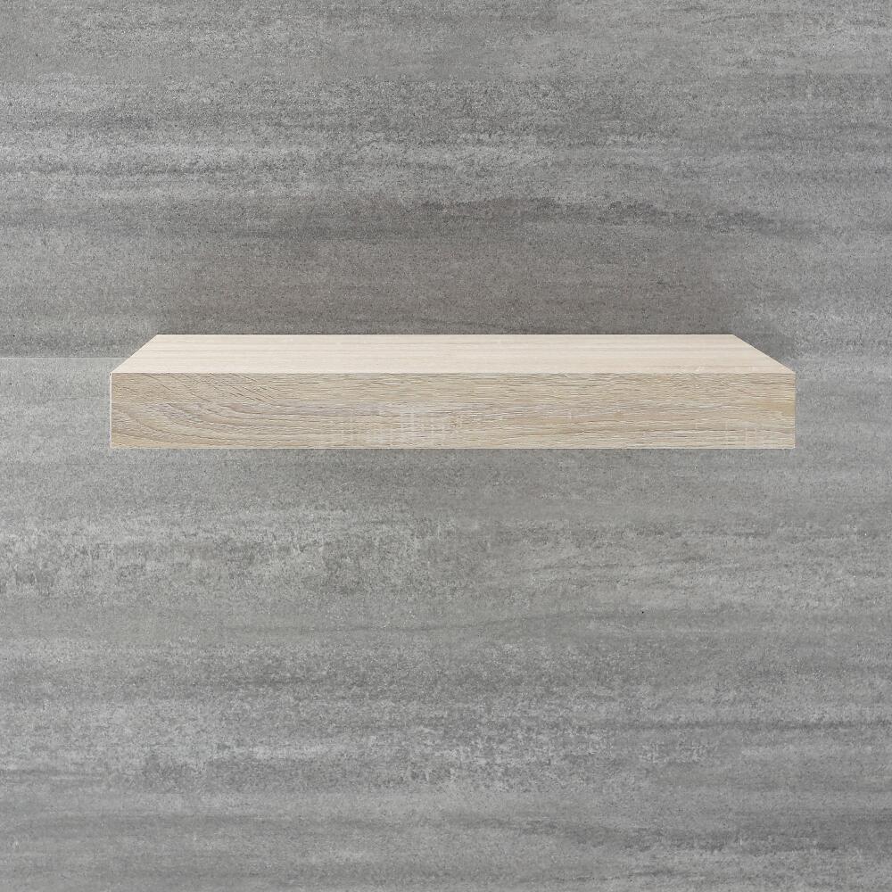 Piano Per Lavabo Da Appoggio mensola colore rovere per lavabo da appoggio 600mm - cluo