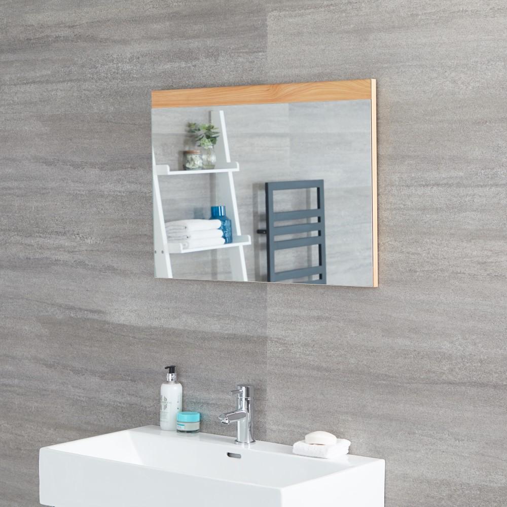 Specchio Bagno Murale 500x700mm Colore Rovere Dorato - Newington