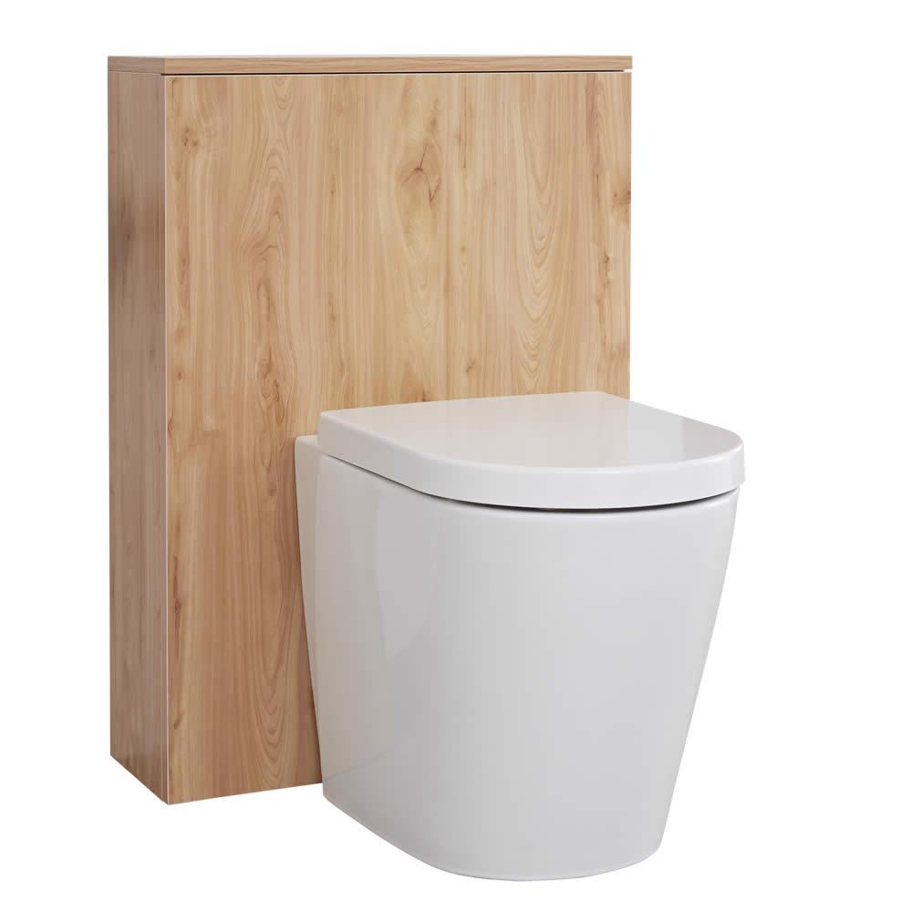 Mobile WC per Stanza da Bagno 600mm Colore Rovere Dorato - Newington
