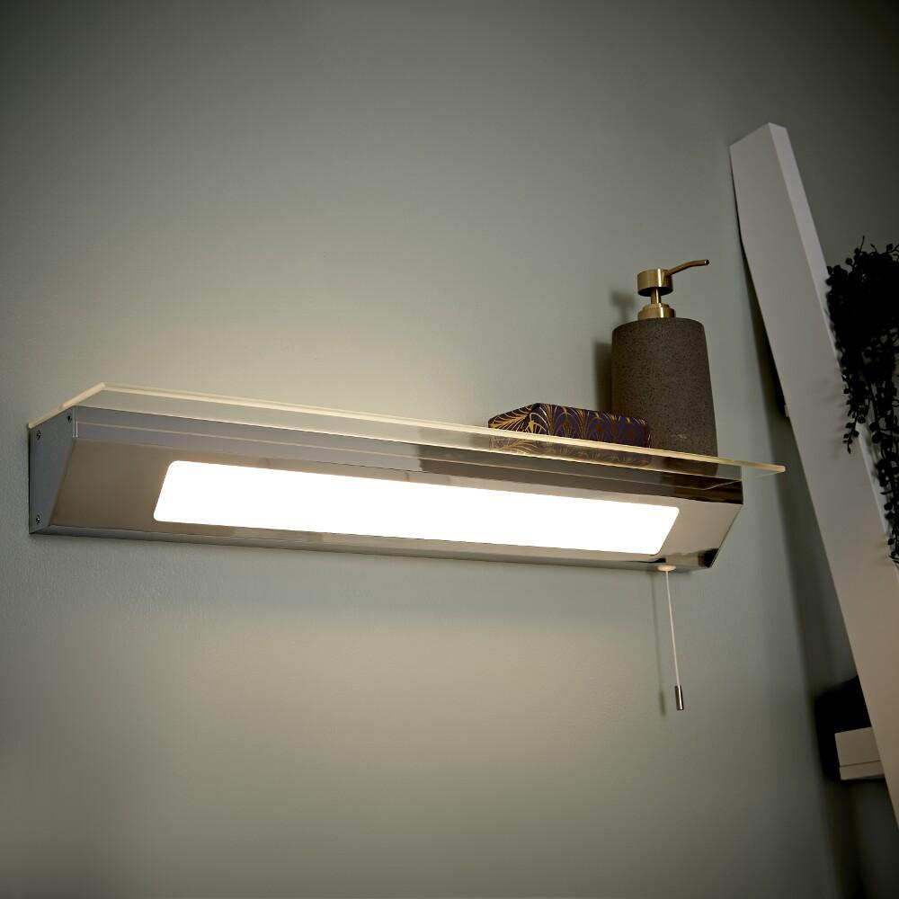 Mensola con Illuminazione LED per Stanza da Bagno - Achen