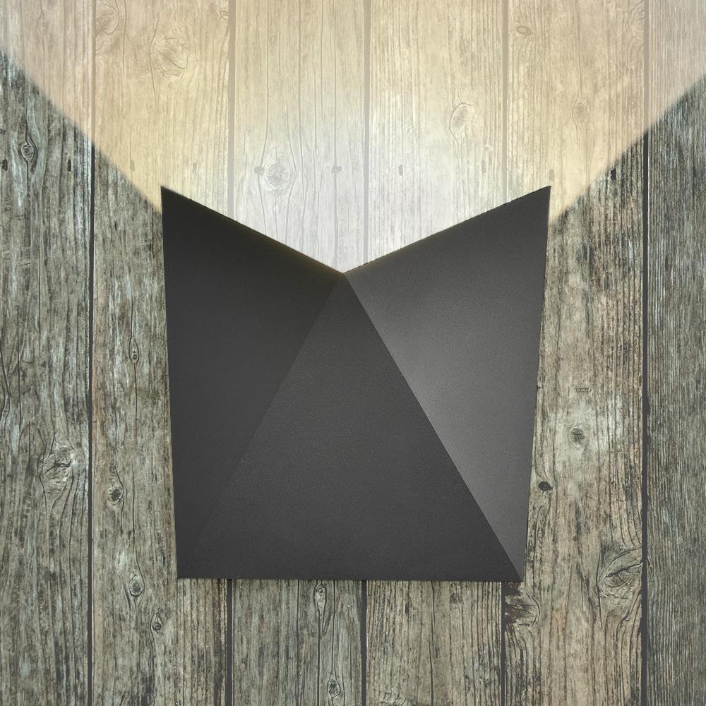 Biard Applique Murale LED da Esterno Ascendente/ Discendente Orientabile Murale IP54 Nera o Antracite  - Visby