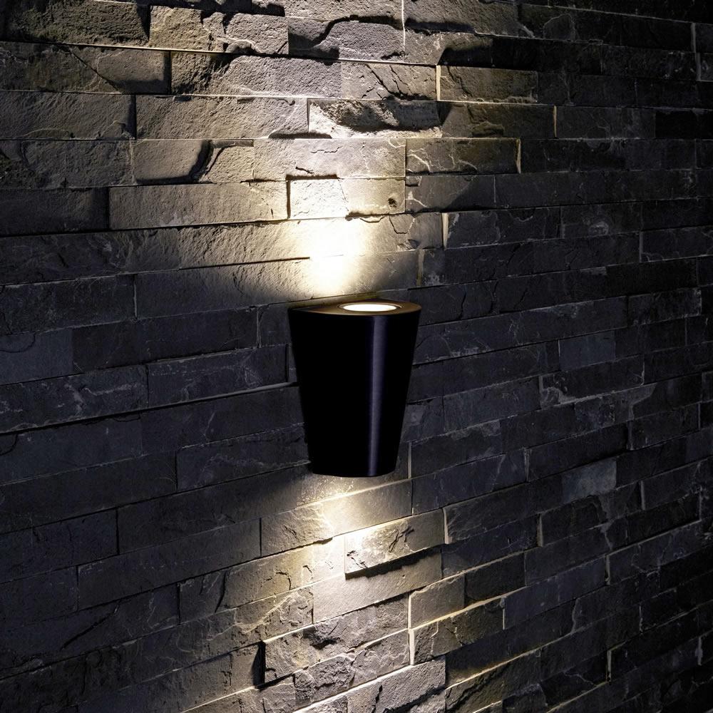 Biard Applique da Esterno da Parete Design Conico Nero