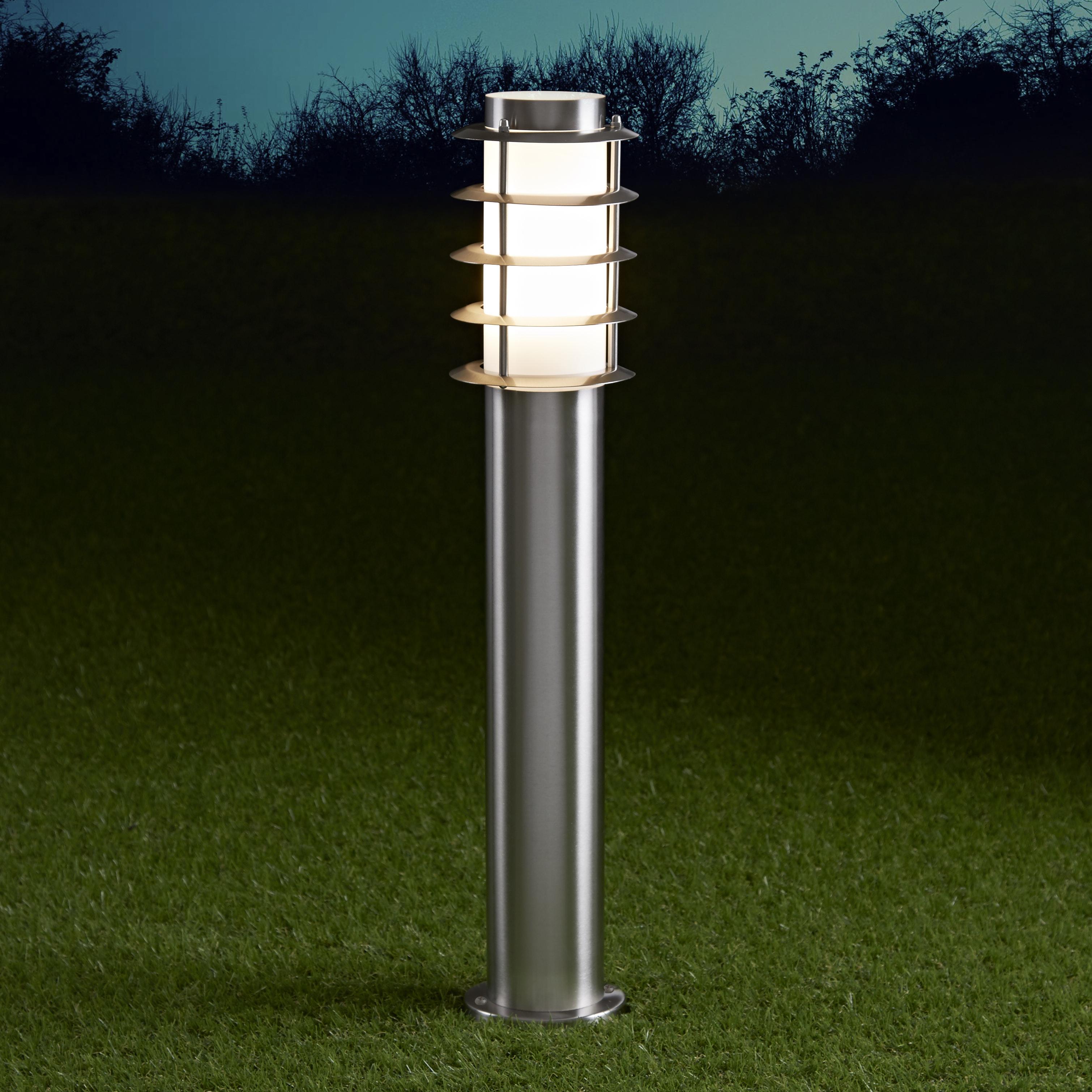 Biard Paletto LED da Esterno 6W in Acciaio Inox 600mm con Lampadina E27 - Belfort