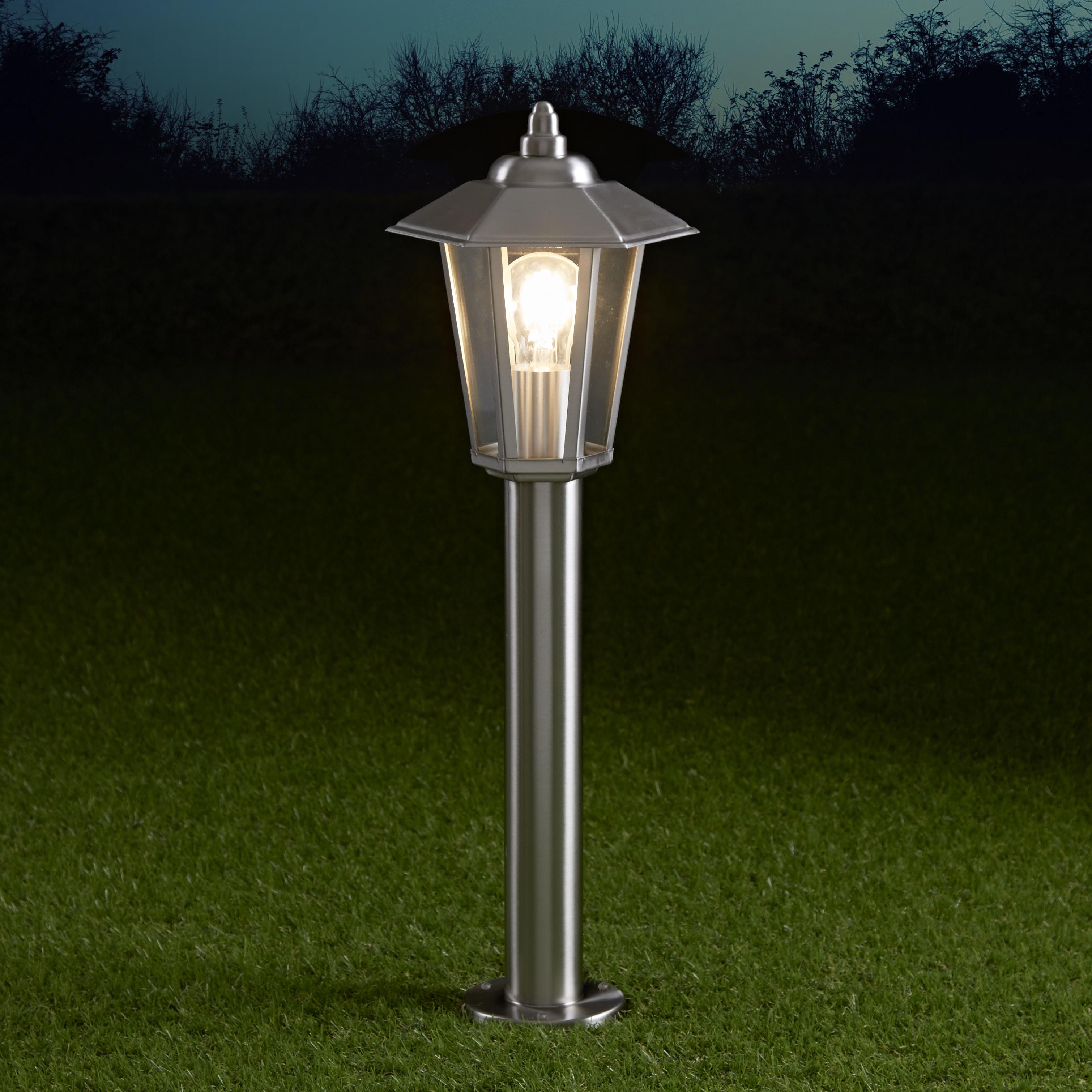 Biard Paletto LED da Esterno 4W Stile Faretto in Acciaio Inox 600mm con Lampadina E27 - Cannes