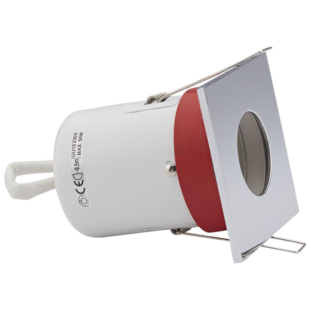 Biard Faretto LED da Incasso GU10 Protezione Ignifuga con Porta Faretto Quadrato Disponibile in 3 Colori