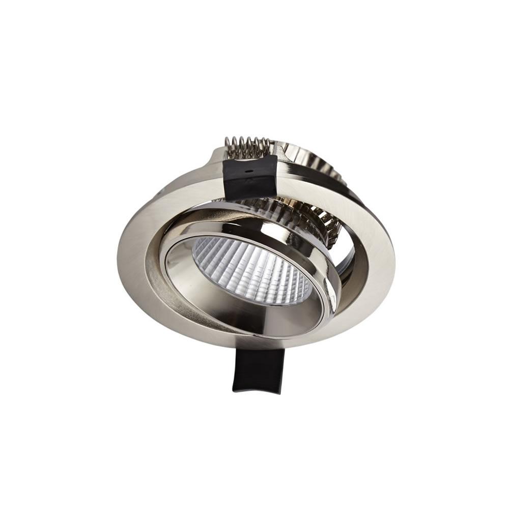 Biard Title Faretto Orientabile LED 10W da Incasso - Nichel