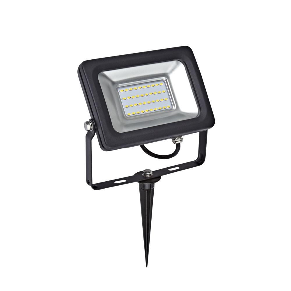 Kit LED per Esterni Completo di Picchetto da Pavimento per Faretto Esterno LED 20 Watt