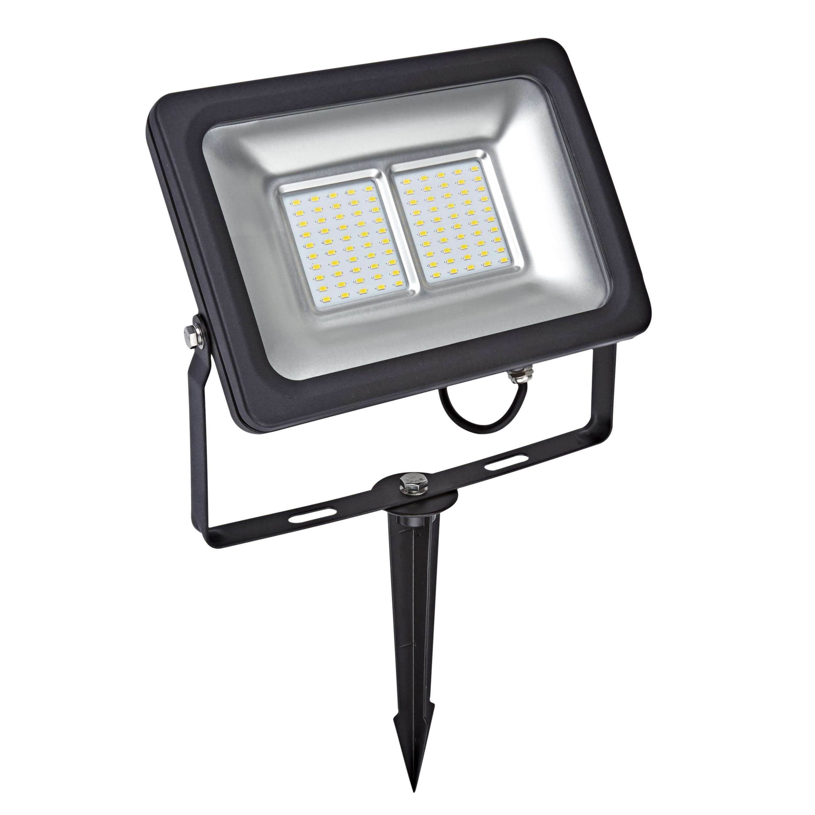 Kit LED per Esterni Completo di Picchetto da Pavimento per Faretto Esterno LED 50 Watt