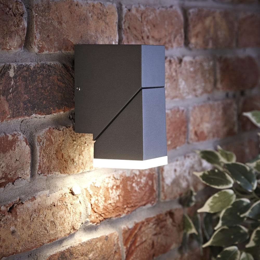 Biard Applique Murale LED Orientabile Luce Ascendente o Discendente Quadrato Antracite - Ziersdorf