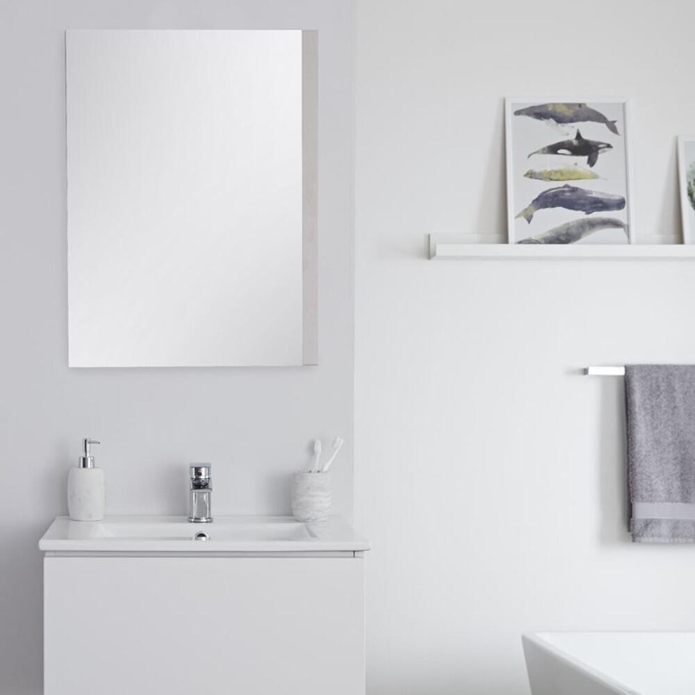 Specchio Bagno Bianco.Specchio Bagno Murale 500x700mm Colore Bianco Opaco Newington