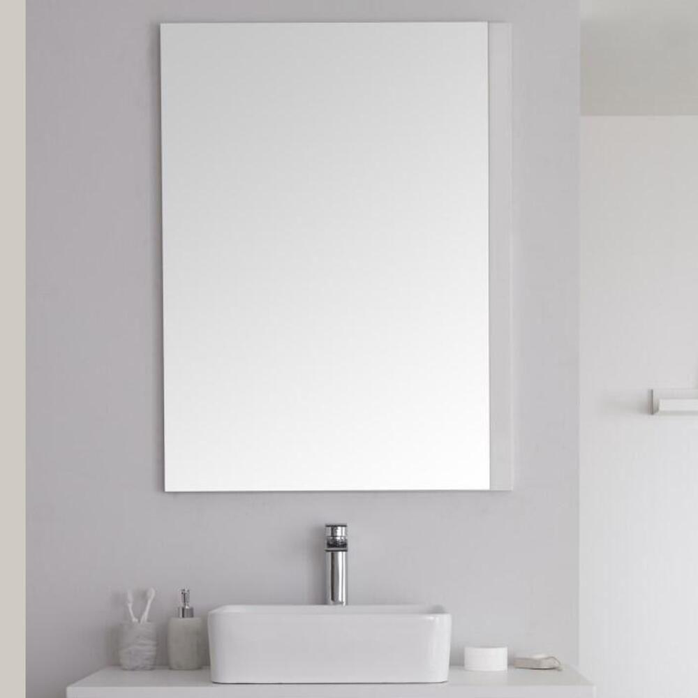 Specchio Bagno Bianco.Specchio Bagno Murale 750x1000mm Colore Bianco Opaco Newington