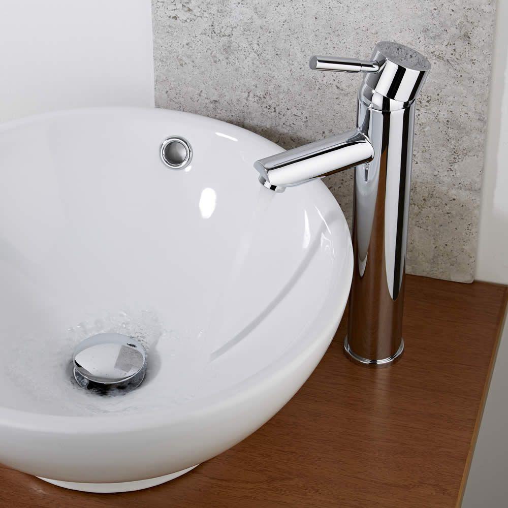 Rubinetto miscelatore alto per lavabo bagno freestanding - Cambiare rubinetto bagno ...