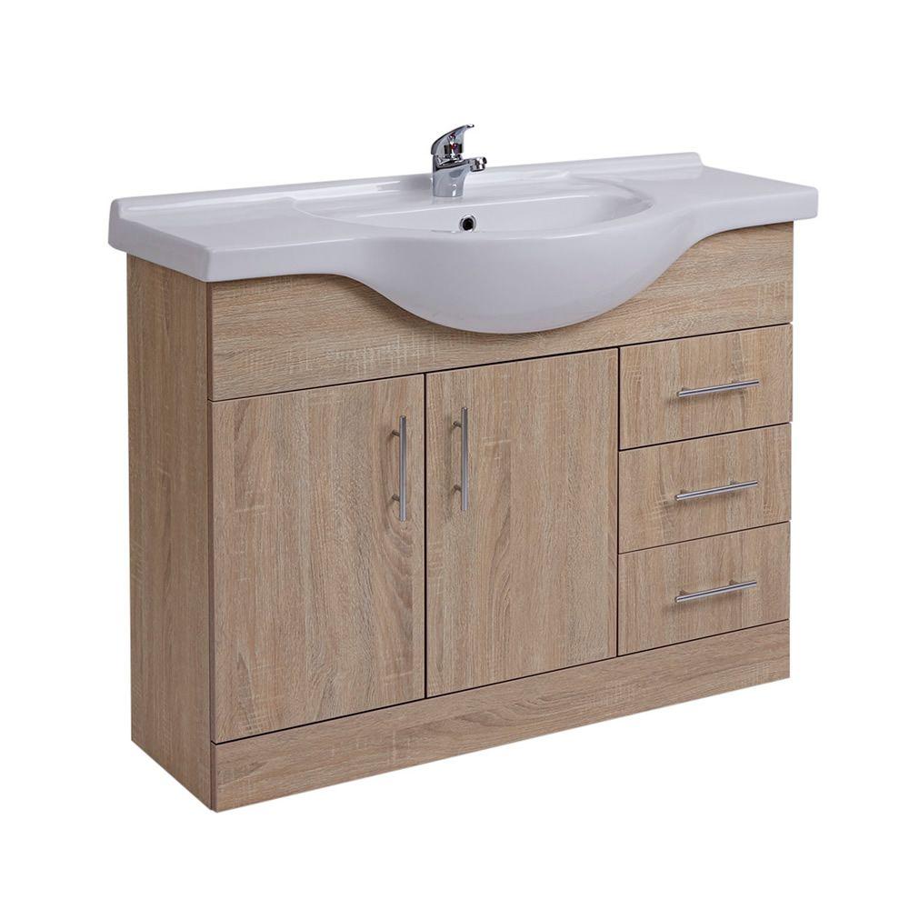 Mobile bagno colore rovere con lavabo integrato con 2 ante for Lavabo mobile bagno
