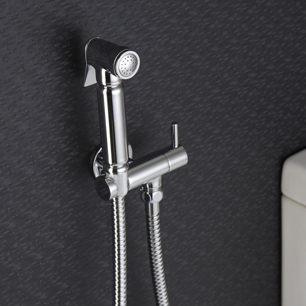 kit doccetta per wc con doccetta clip murale di supporto e flessibile. Black Bedroom Furniture Sets. Home Design Ideas