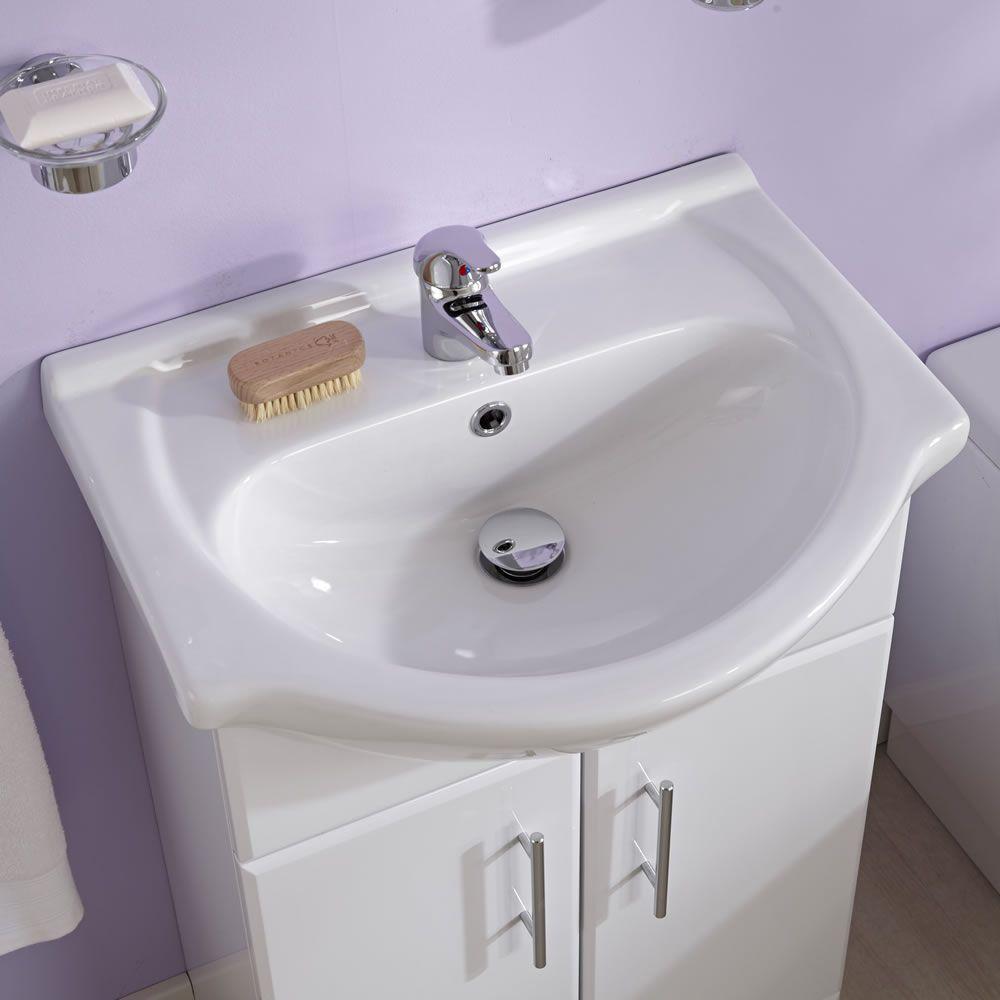 Set Bagno Completo con Mobile Bagno con Lavabo Integrato, Sanitario ...