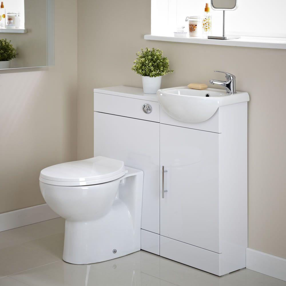 Mobile bagno bianco con lavabo e wc for Lavabo e mobile bagno