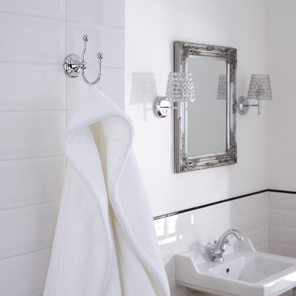 Appendino per accappatoio e appendiabiti tradizionale per stanza da bagno - Appendiabiti da bagno ...