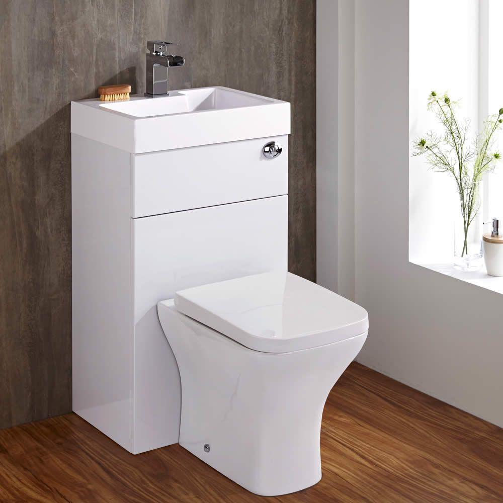 Lavabi Moderni Per Bagno.Set Bagno Completo Di Lavabo Moderno E Sanitario Integrato Colore Bianco