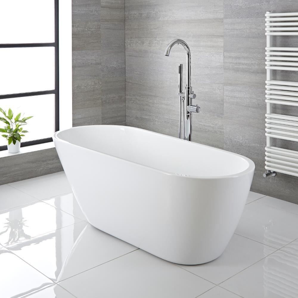 Vasca in acrilico centro stanza freestanding moderna - Vasche da bagno usate ...