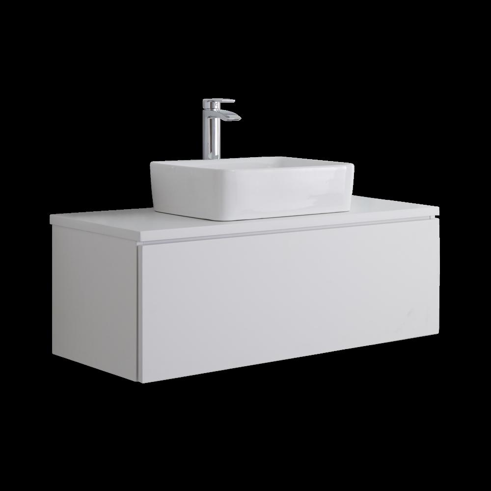 Mobile bagno per lavabo da appoggio fabulous mobile bagno for Top per lavabo da appoggio ikea