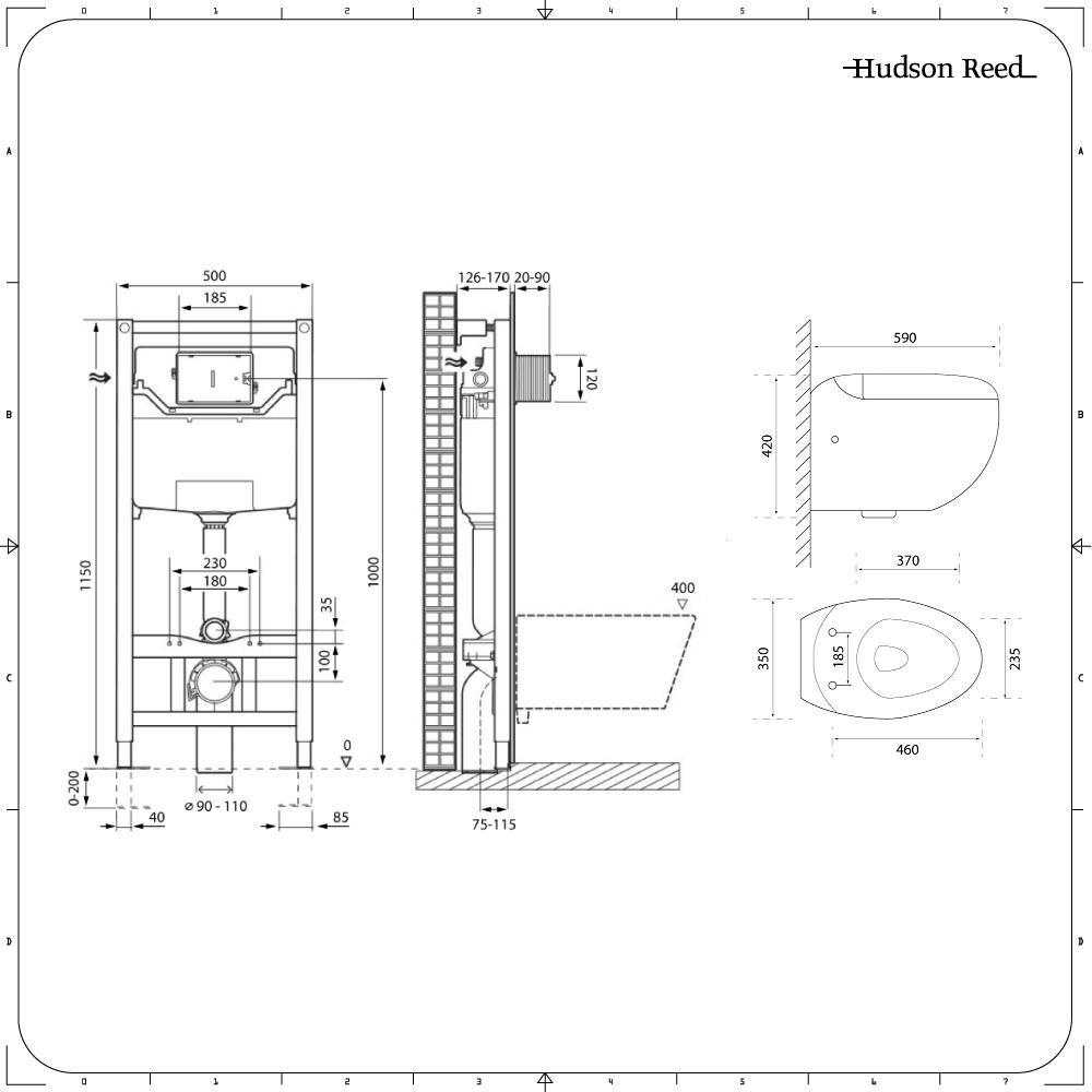 Sanitario bagno wc sospeso ovale 420x350x590mm completo for Cambiare tavoletta wc sospeso