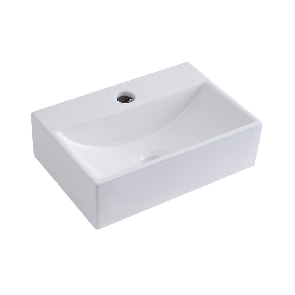 Lavabo bagno da appoggio sospeso in ceramica ovale - Mini lavabo bagno ...