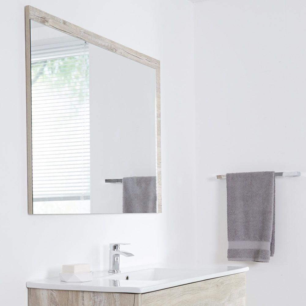 Specchio Bagno Murale 750x1000mm Colore Rovere Chiaro con Design ...