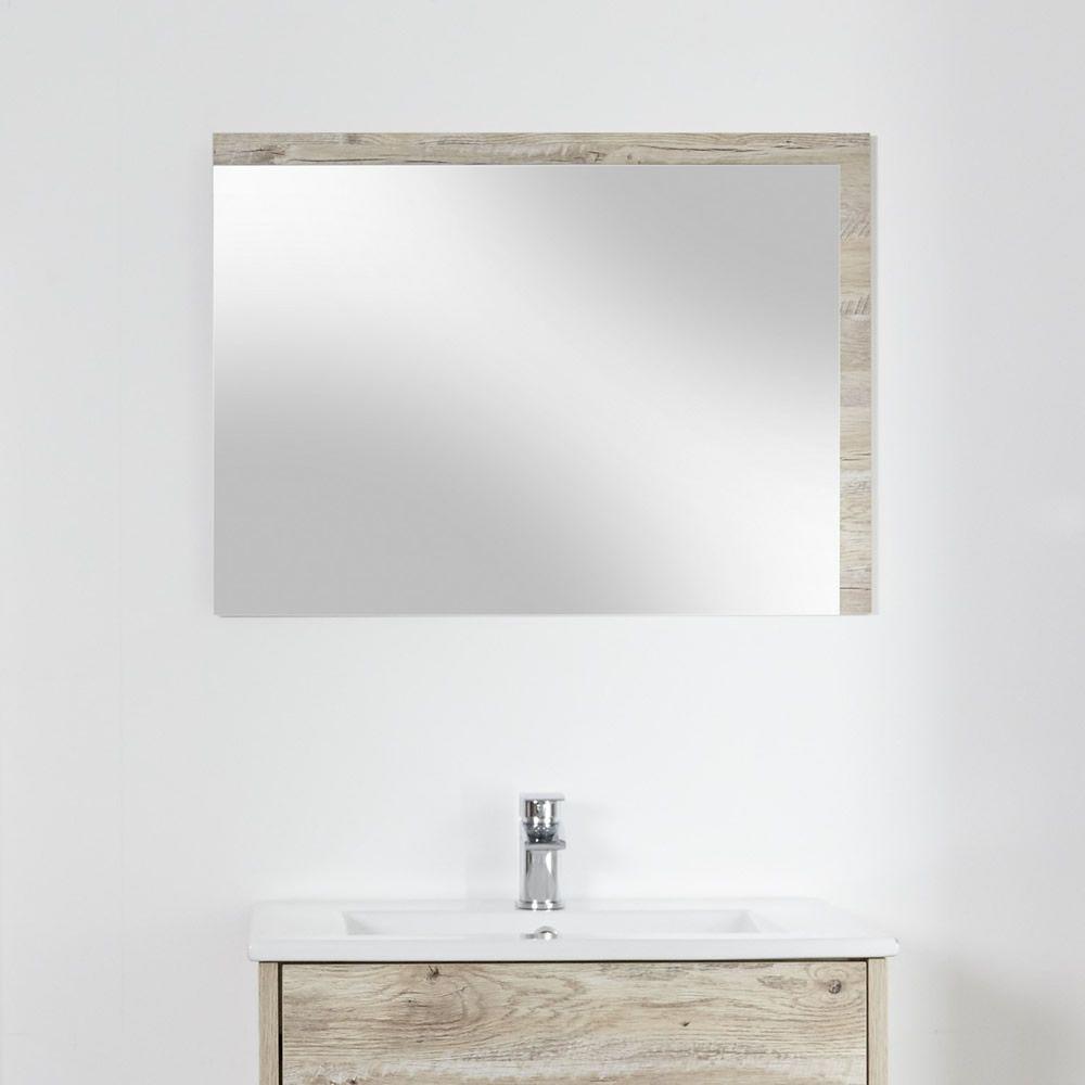 Specchio Bagno Murale 500x700mm Colore Rovere Chiaro con Design ...