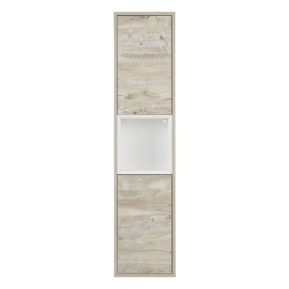 Colonna Bagno Murale per Stanza da Bagno 1500mm Colore Rovere Chiaro ...