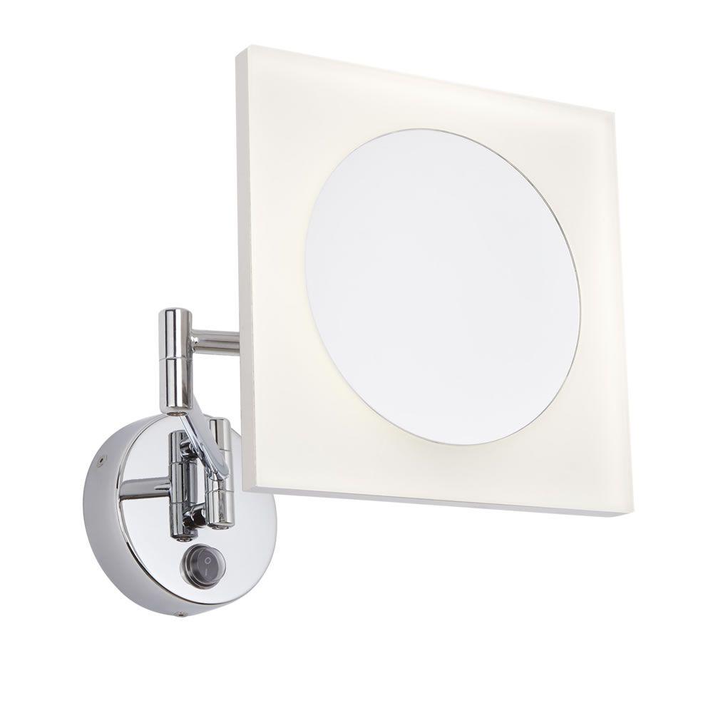 Specchio Ingranditore Da Bagno.Specchio Ingranditore Led Murale Quadrato Con Braccio Estensibile Per Stanza Da Bagno Ladoga