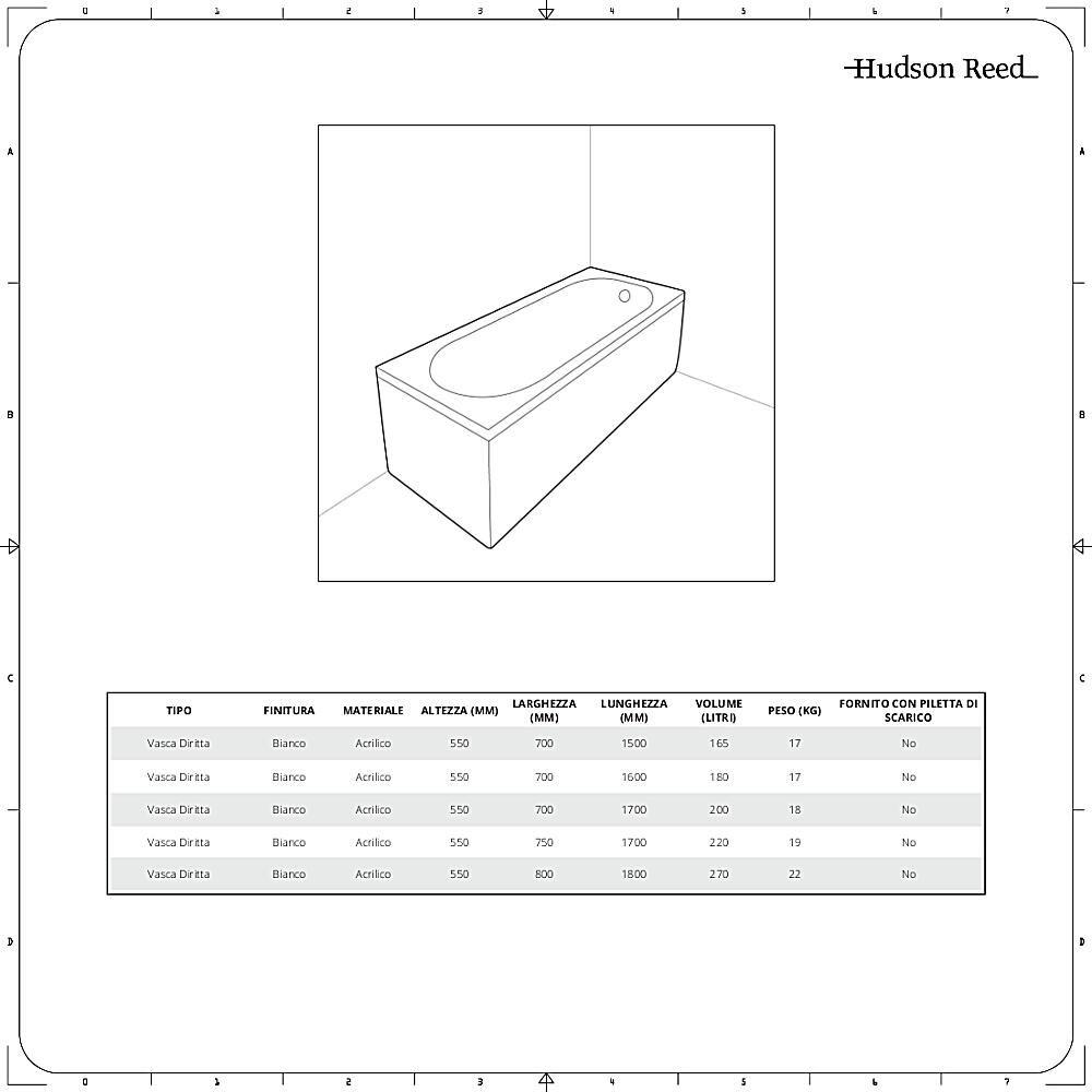 Vasca Da Bagno Dimensioni.Vasca Da Bagno Bianco In Acrilico Con Design Arrotondato Alswear Disponibile In Diverse Misure