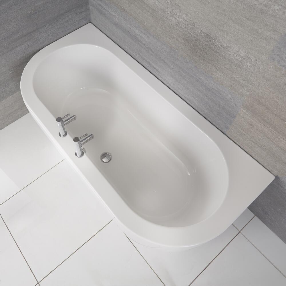 Vasca Da Bagno Stile 800.Vasca Da Bagno In Acrilico Murale Tradizionale 1700x800mm