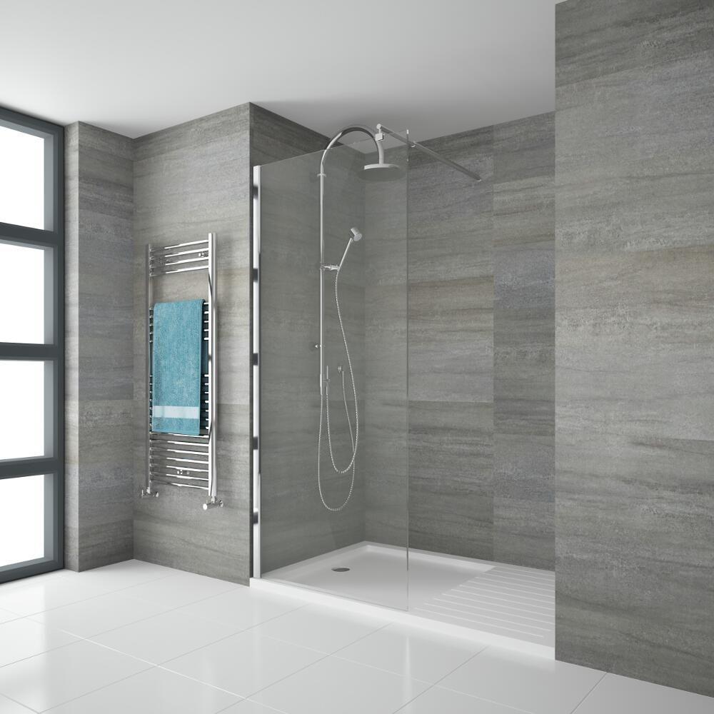 Parete doccia per doccia walk in 1200x1950mm - Box doccia vetrocemento ...