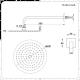 Kit Doccia Completo di Miscelatore Doccia Termostatico Triplo a 2 Vie, Soffione Doccia Circolare 200mm e 4 Idrogetti - Aldwick