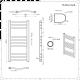 Radiatore Scaldasalviette Elettrico Curvo - Cromato - 800mm x 400mm - Eco