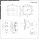 Kit Doccia Completo di Miscelatore Termostatico Incasso Triplo a Due Vie con Idrogetti e Soffione Doccia ad Incasso 400x400mm