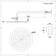 Kit Doccia Completo di Miscelatore Doccia Manuale a 2 Vie con Finitura in Nichel Spazzolato, Deviatore,  Soffione Doccia Circolare 200mm e Doccetta - Aldwick